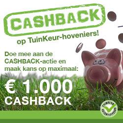 Cashback actie Tuinkeur