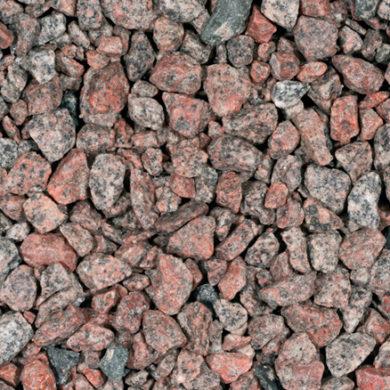 Granietsplit-rose-rood